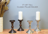 """Classic Pillar Bases / 3"""" x 8"""" tall (Case: 2 bases & 2 free pillars included)"""
