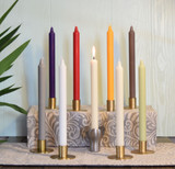 "11"" Eco-Friendly Stearin Taper Candles  (Box of 12 per color)"