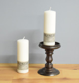 "White Danish Pillar Candles - 2"" x 5.5"" - Case of 6"