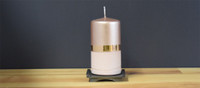 Dripless Copper pillar candle