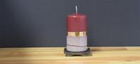 Unscented Bordeaux pillar candle