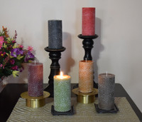 Rustic Dripless Pillar candles