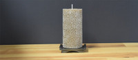 Unscented Brown Pillar Candle