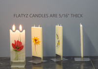 FLATYZ Decorative Flat Candles - Flower Collection 1
