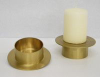 Solid Brass Pillar Base/Pedestal (Case: 2 + Two Free Danish Pillars Included)