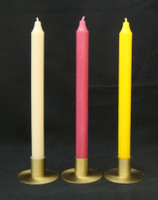 "Spring Bouquet Set of 12"" Kiri Tapers  Colors: Cream, Deep Rose and Yellow"