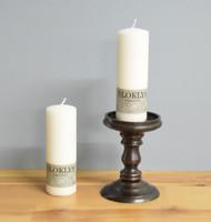 "White Danish Pillar Candles - 2"" x 5.5"" - Case of 6"