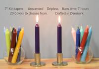 """7"""" Danish Kiri Tapers - Pack of 12 per color."""