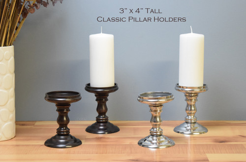 "Classic Pillar Bases / 3"" x 4"" tall (Sold by the pair / Free Shipping & 2 free pillars included)"