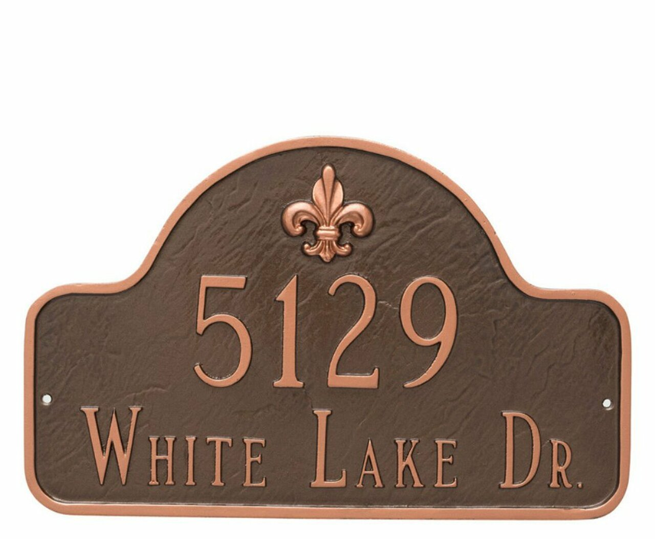 Fleur-de-lis Lexington Arch Address Plaque - 2 lines (Large)