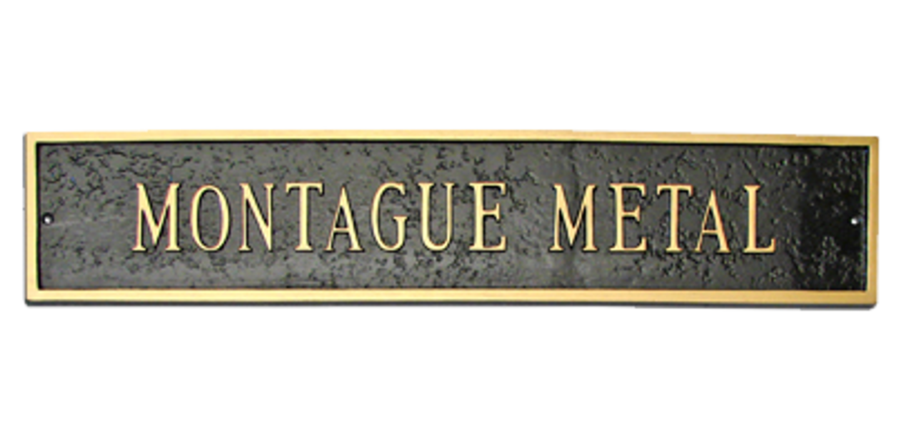 Metal Address Plaque. Great for holding business name, family name, professional designations such as 'John Q. Smith CFP'.
