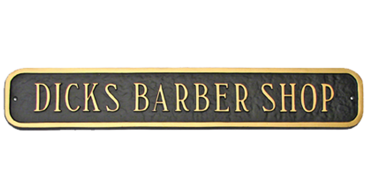 Extension Plaque Presenting Business Name