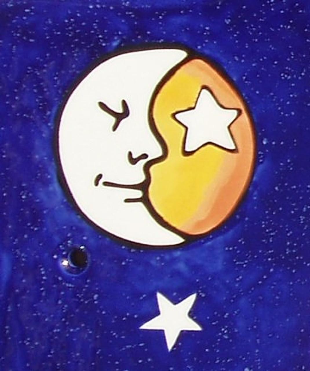 Half Face Moon detail