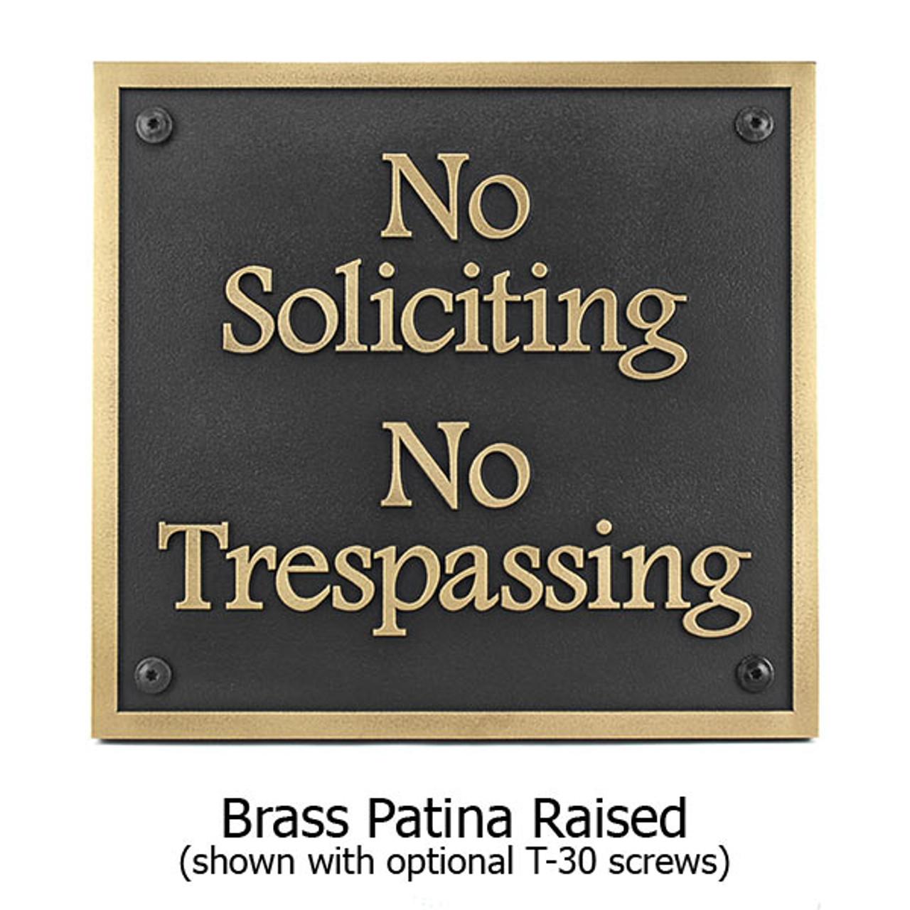 Brass Patina Finish