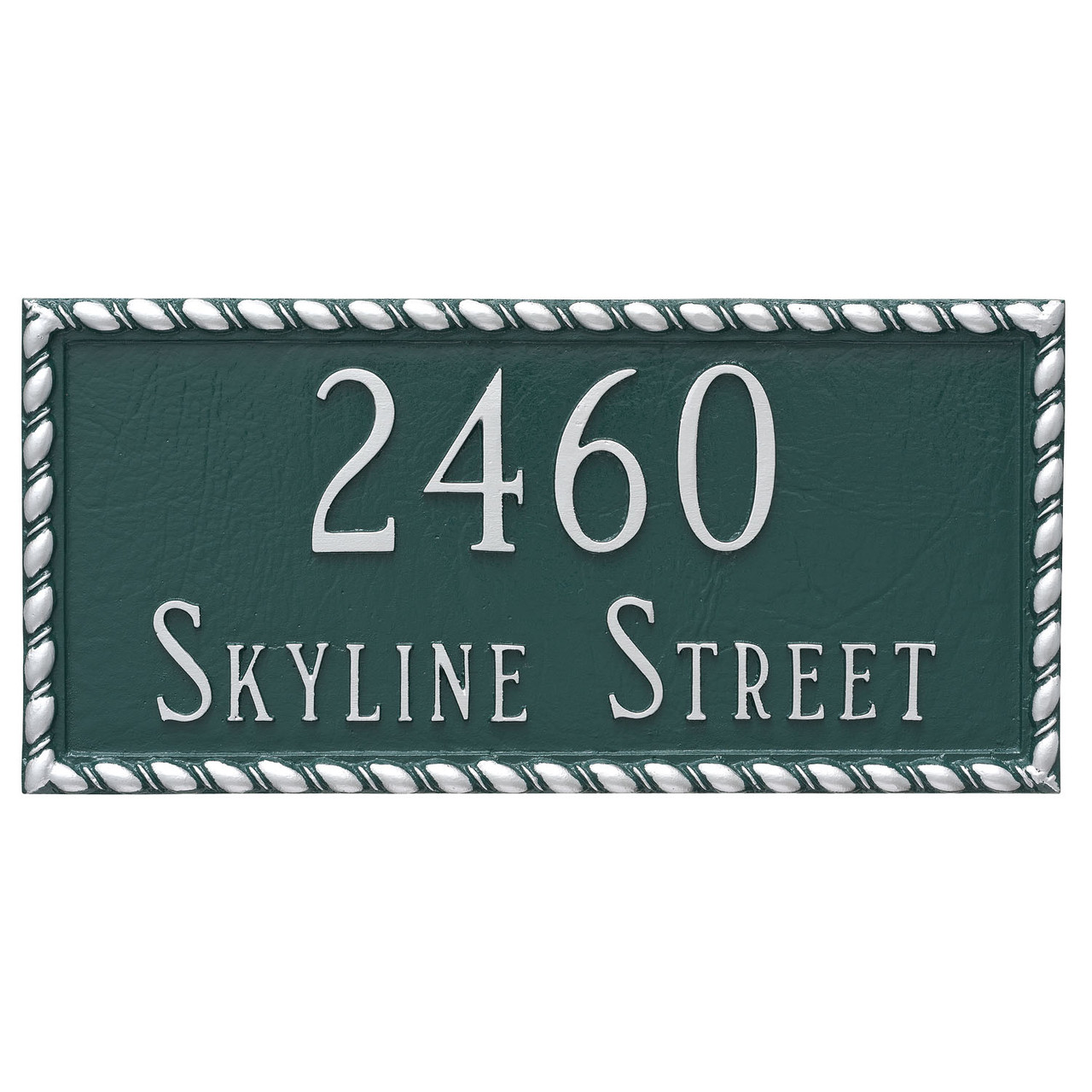 Shown with two lines text - Franklin Address Plaque - Metal