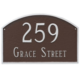 Shown in Chocolate Silver - Home Address Plaque – Large Prestige Arch