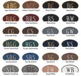 Choose one of these attractive color combinations to complete your custom house plaque. The numbers, border and leaf design are raised for a distinctive look.