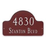 Lexington Arch Address Plaque (Estate Size)