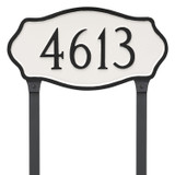 Hampton Address Plaque with lawn stakes