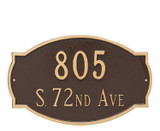 Cambridge Address Plaque (Estate Size) shown with Two Lines