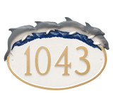 Dolphin Oval House Number Plaque