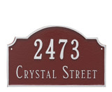 Address House Plaque shown here with house numbers and street name.