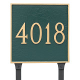 Large Address House Number Plaque can be ordered with lawn stakes.