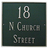 Large Address House Number Plaque.  Shown here displaying street address.