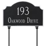 Two Sided Vanderbilt Arch Address Plaque