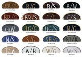 These great color combinations are available to complete your home address plaque