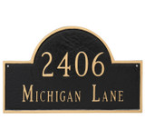 Classic Home Address Plaque. Lettering, numbers and border are raised metal and won't wear off.  Rich colors have a powder coated finish for exceptional durability, beauty and colors that last!