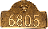 Address Number Plaque shown here in Designer Aged Bronze with Gold color combination.