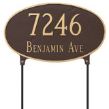 Two Sided House Number Plaque - Lawn Mount