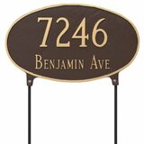 Two Sided House Number Plaque lawn mount