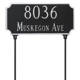 Two Sided 2 Line Address Plaque with Lawn stakes (included)