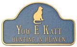 Cat Memorial Plaque with Pet Name and Saying. Line 2 can also hold dates.