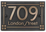Frank Lloyd Craftsman Address Plaque