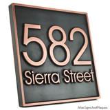 Modern Address Plaque