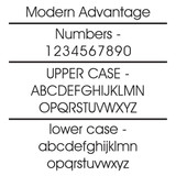 Modern Advantage Lettering and Number Style.