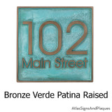 Modern House Numbers with street address