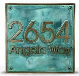 Modern Advantage Address Plaque