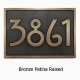 Stickley Address Plaque shown in Classic Bronze Patina Custom Finish.