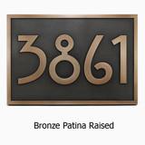 Stickley Address Plaque shown in Classic Bronze Patina Custom Finish.