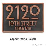 Copper Patina metal coated custom finish.