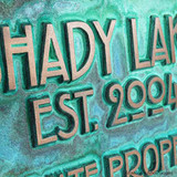 Detail Stickley Address Plaque