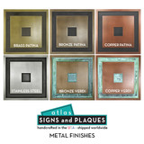 Choose your desired metal coated finish to create a pleasing accent or focal point for your front porch or entrance.