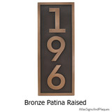Vertical House Numbers - Modern shown in Bronze Patina