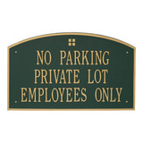 Extra Large Address House Plaque in attractive Green/Gold color combination.