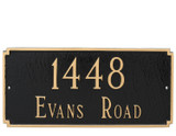 Two Line Street Address Plaque Madison in Black/Gold