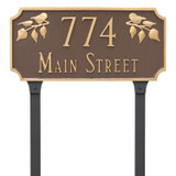 House Numbers Address Plaque with Ivy